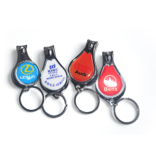 Metal Keychain with Nail Clipper Factory Supply