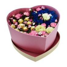 Caja de embalaje de flores de papel a prueba de agua en forma de corazón