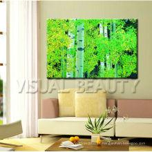 Cópia moderna da lona da foto da árvore da floresta / Impressão De Canvas Envolvida Para a decoração / lona esticada Impressão