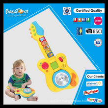 Meilleur vente B / O instrument de musique en plastique guitares électriques guitare jouet pour enfants