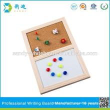 Eco-friendly half white board cork board