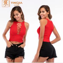 Knitted Hollow Out Camisole Sexy Woman Crop Tops