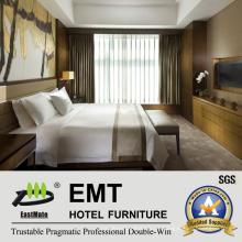 Conjunto amável de móveis de mobiliário de madeira de estilo de amostra (EMT-HTB06-4)