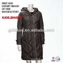 Russische Version Frauen Lang Hooded Kundenspezifische Daunenjacke