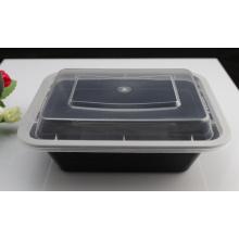 Recipiente de empacotamento descartável plástico seguro preto da microonda da cor