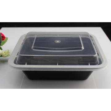 Récipient d'emballage alimentaire jetable en plastique sûr de micro-onde de couleur noire