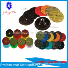 4 inch Resin Bonded diamond polishing pad discos para pulir marmol