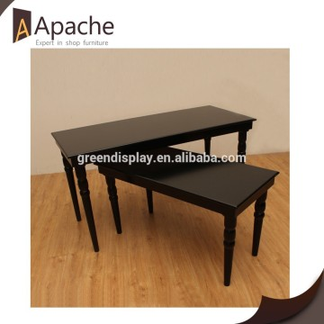 2 hours replied factory supply Antique Wooden Display Table for 2015