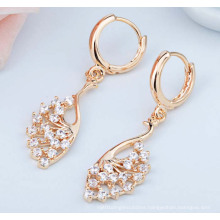High Quality Zircon Allergy Peacock Zircon Earrings
