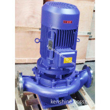 Vertical inline centrifugal pipeline pump