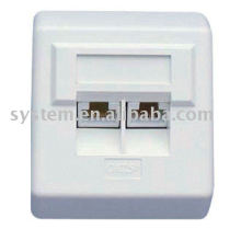 Unshilded 80*65 network face plate
