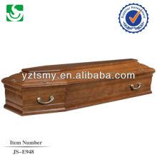 punho do metal zinco com forro bonito para o caixão de madeira