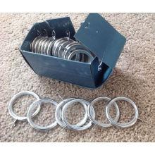 Современные стильные полированные хромированные кольца