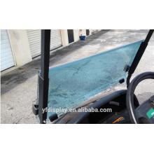 Pare-brise teinté acrylique de voiture de golf de vente chaude pour le pare-brise et le lecteur précédents