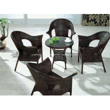 Table de salle à manger et chaise en osier extérieur