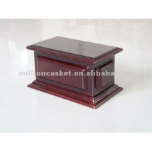 solid mahogany wooden cremation urn funeral product