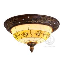 Lampe de plafond en résine avec teinte en verre blanc (SL92675-3)