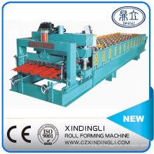 Máquina formadora de rolos de telha esmaltada estilo Angola automática