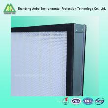 Filtro de alta eficiência Mini-plissado Pannel hepa filtro de ar H13