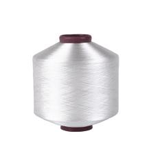 TBR triange bright RW raw white 50 D denier weft Texturized 100% high twist polyester twist yarn dty for ribbon