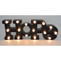 Plastic LED Letter for Christmas Decoration