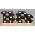 Hoffnung Plastikbrief mit LED für Hauptdekoration