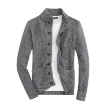 Woolen Leisure Jacket with Button