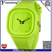 Yxl-986 2015 New Hot Unisex Fashion Silicone Rubber Quartz Sports Watch Men Women Jelly Wrist Watch