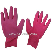 Colorful Garden Gloves Foam Latex Palm Coated Safey Work Glove