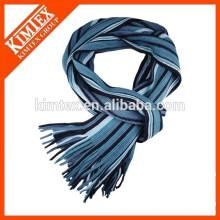 Großhandel Winter warme weiche Männer gestreiften Strick Schal