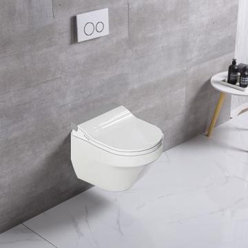 Louça sanitária sanitária com parede dourada