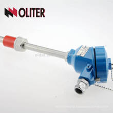 OLITER thermocouple with interrupter nuts ptfe/pfa quick disconnect connector thermocouple with explosion proof head