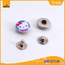 Personalizado impresso botões de pressão para crianças vestuário BM10704