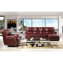Sofa 1+2+3 with Manual Recliner Leather Sofa