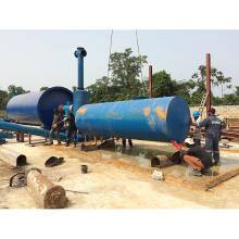 Resíduos de borracha para equipamentos de pirólise de alta eficiência / com economia de energia / plásticos