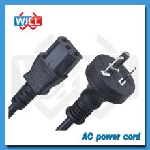 Fábrica Venta al por mayor hembra tipo de extremo AU cable de alimentación con IEC C13 C14