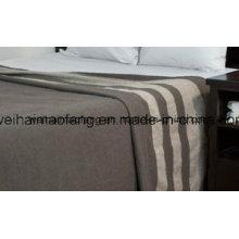Manta de lana merino de lana tejida