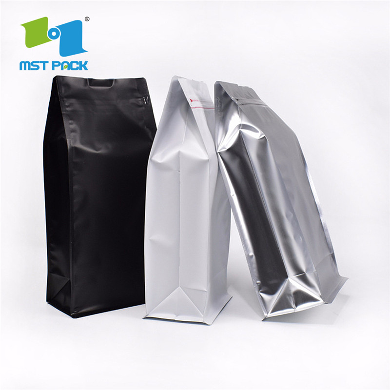 Gred Safety Flat Bottom Aluminum Foil Packaging Coffee