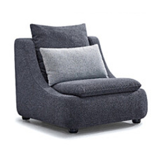 Lazy Recliner Gray Fabric Upholstered Sofa Set