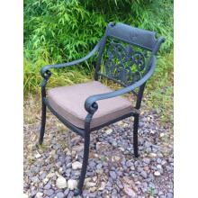Elenco de alumínio pátio ao ar livre mobiliário Metal jardim cadeira de braço