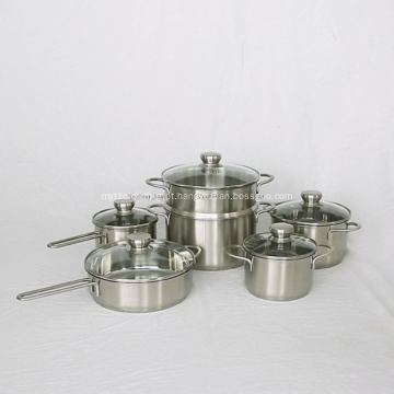 Conjunto de panelas para alimentos com leite e indução para wok