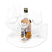 Clear Acrylic Wine Bottle Rack Display Stand