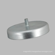 D40 Ferrite Magnet Round Base with Thread Rod