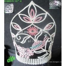 Venta al por mayor Las tiaras y la corona más grandes del desfile de belleza de Bigs del diseño