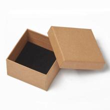 Wholesale Luxury Custom Logo Brown Kraft Paper Jewelry Packaging Box