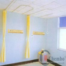 Voie de rideau de l'hôpital courbée, rideau de l'hôpital