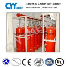 Cylindre de gaz anti-incendie en acier sans soudure avec différentes capacités