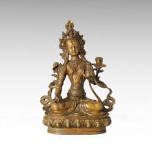 Statue de Bouddha Blanc Tara Bronze Sculpture Tpfx-B62