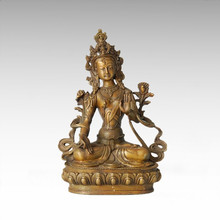 Buddha Statue White Tara Bronze Sculpture Tpfx-B62