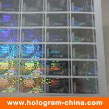 Пломбировочная матричный прозрачный серийный номер голограммы стикер
